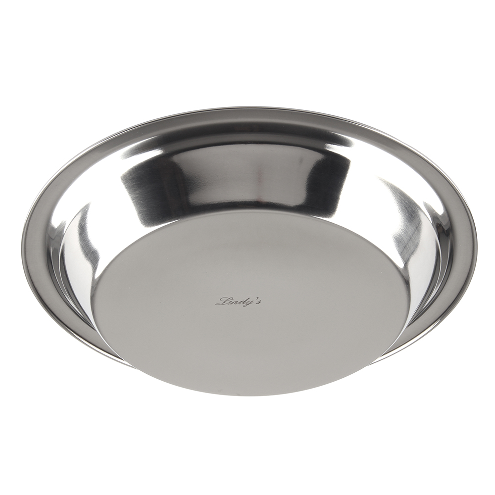 "Stainless Steel 9"" Pie Pan - Click Image to Close"