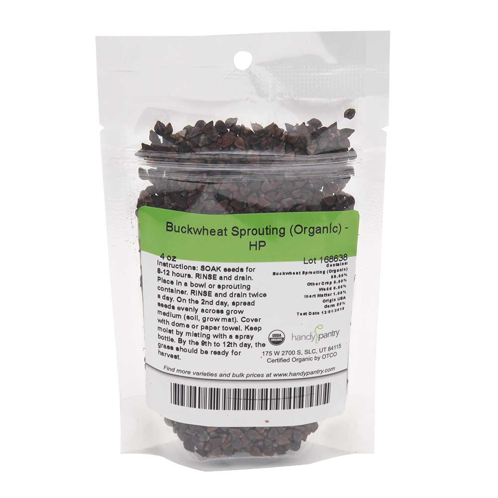 Buckwheat Sprouting Seeds - 4oz