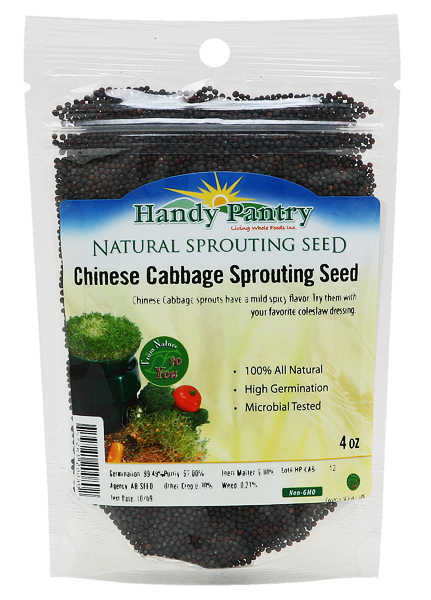 Chinese Cabbage Sprouting Seeds - 4oz