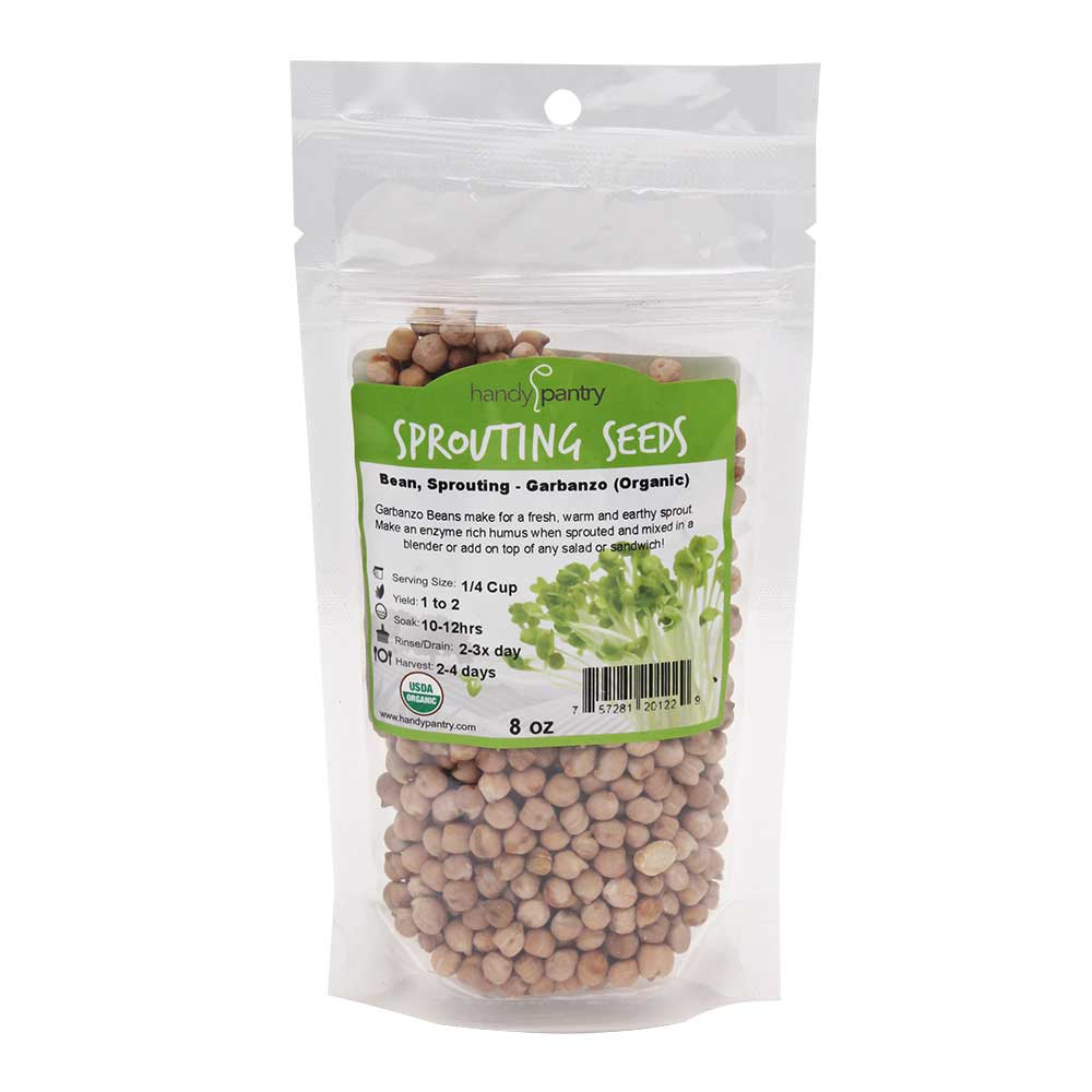 Garbanzo Sprouting Seeds - 8oz