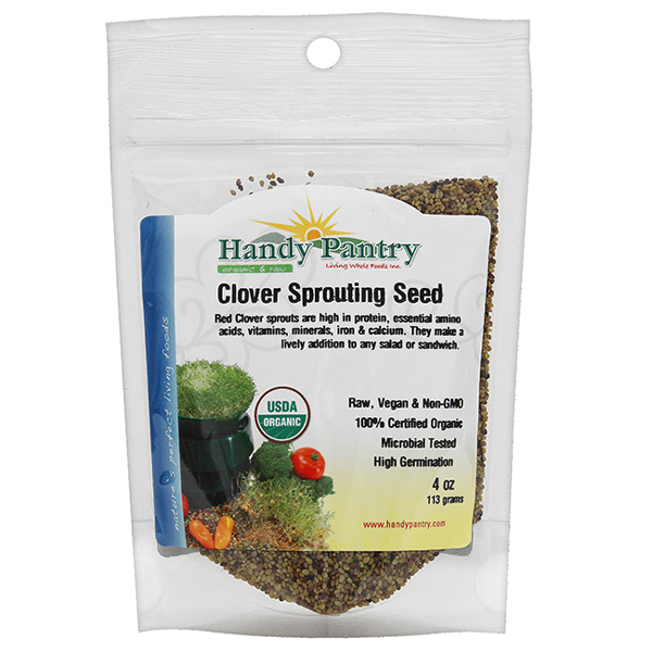 Clover Sprouting Seeds - 4oz